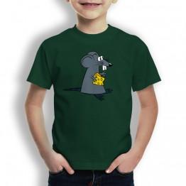 Camiseta Raton con Queso para Niños