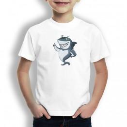 Camiseta Tiburon Feliz para Niños