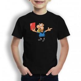 Camiseta Tarjeta Roja para Niños