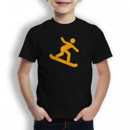 Camiseta Snowboard para Niños