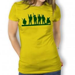 Camiseta Silueta Soldados para Mujer