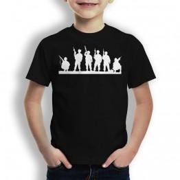 Camiseta Silueta Soldados para Niños
