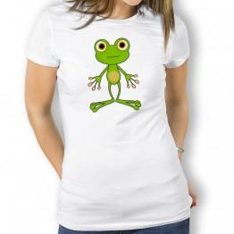 Camiseta Rana Cartoon para Mujer
