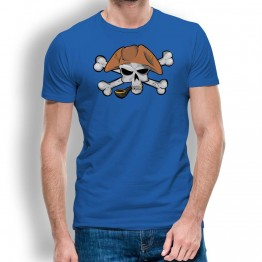 Camiseta Calavera Pirata Pipa para Hombre