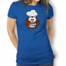 Camiseta Chef Buho para Mujer
