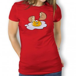 Camiseta Huevo Roto para Mujer