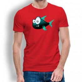Camiseta Piraña Sospechosa para Hombre