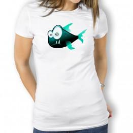 Camiseta Piraña Sospechosa para Mujer