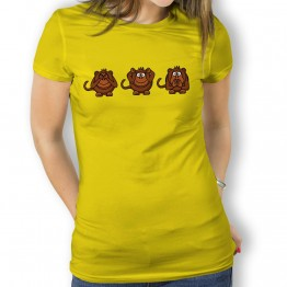 Camiseta Mono Ver Oir y Callar para Mujer