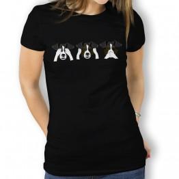 Camiseta Perro Ver Oir y Callar para Mujer