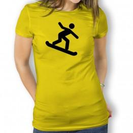 Camiseta Snowboard para Mujer