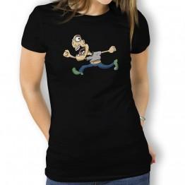 Camiseta Caricatura Running para Mujer