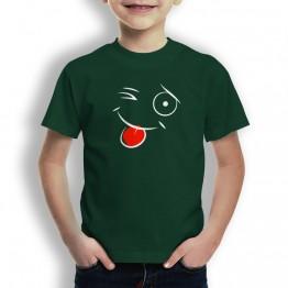Camiseta Cara Guiño para Niños
