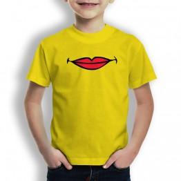 Camiseta Labios Comic para Niños