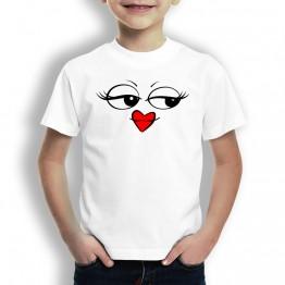 Camiseta Ojos y Boca Comic para Niños