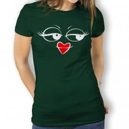 Camiseta Ojos y Boca Comic para Mujer
