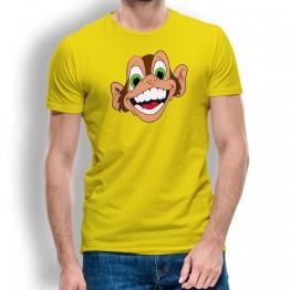 Camiseta Mono Loco Risa para Hombre