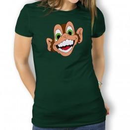 Camiseta Mono Loco Risa para Mujer