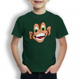 Camiseta Mono Loco Risa para Niños