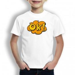 Camiseta Comic OK para Niños