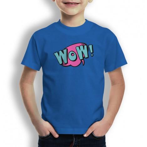 Camiseta Comic Wow para Niños