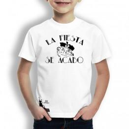 Camiseta La Fiesta Se Acabo para Niñoos