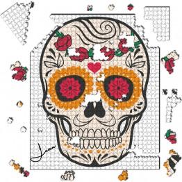 Puzzle Calavera con Rosas