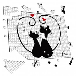 Puzzle Pareja de Gatos