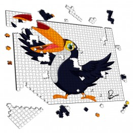 Puzzle Tucan Cartoon