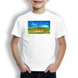 Puente la Reina Verde Oteiza Camiseta de niños