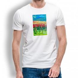 Peregrinos Bandera Oteiza Camiseta  para hombre