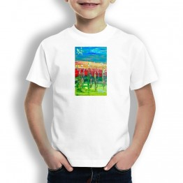 Peregrinos Bandera Oteiza Camiseta  para niños
