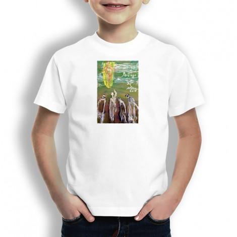 Peregrinos a Santiago Oteiza Camiseta para niños
