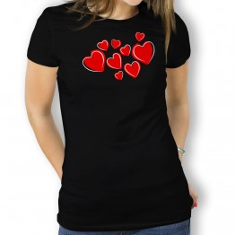 camiseta Corazones mujer