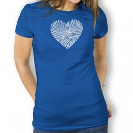 camiseta Corazon Dactilar mujer
