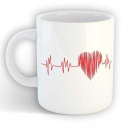 Taza electro corazon