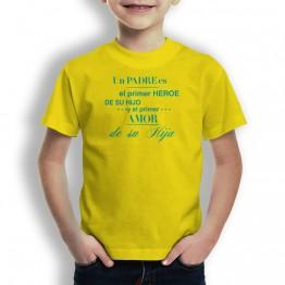 Camiseta Heroe y Amor para niños