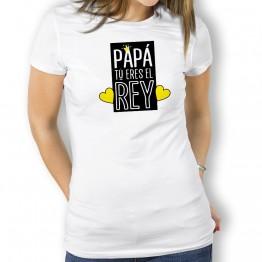 Camiseta Papá Eres El Rey para mujer