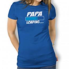 Camiseta Papá Loading  para Mujer