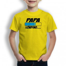 Camiseta Papá Loading  para niños