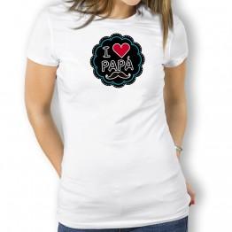 Camiseta I Love Papá mujer