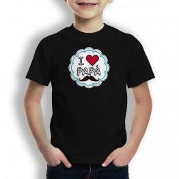 Camiseta I Love Papá niños