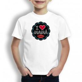Camiseta I Love Mamá niños