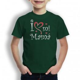 Camiseta Love mi Mamá para niños