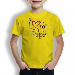 Camiseta Love mi Papá para niños