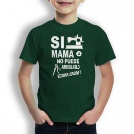 Camiseta si mama no puede para niños