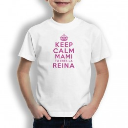 Camiseta Keep Calm Mami para niños