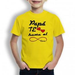 Camiseta Papá te Quiero para niños