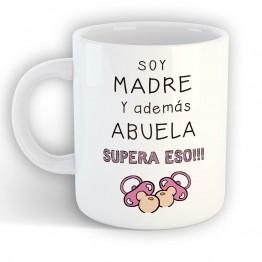 Taza Soy Madre y Abuela
