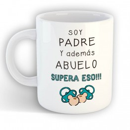 Taza Soy Padre Y Abuelo